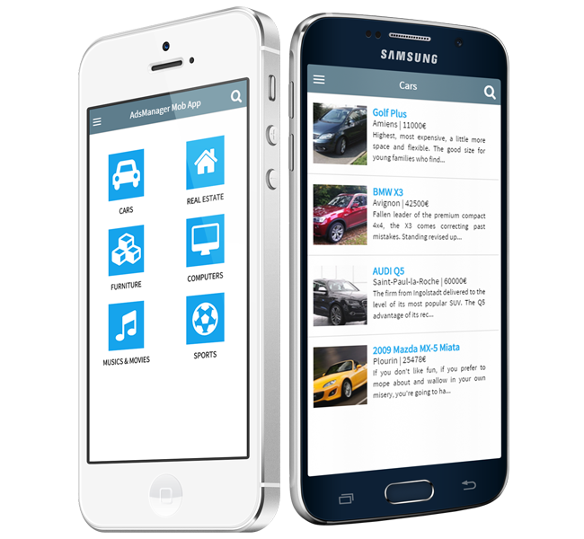 adsmanager mobile application - classified ads software, Presentation templates