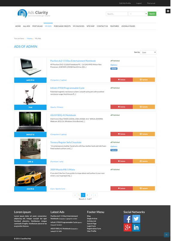 Classified Ads Software | Joomla Classifeld Extension - Classified ...